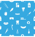 set of dental theme icons blue seamless pattern vector image vector image