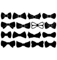set of different bow ties vector image vector image