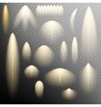 Set of glow light effect EPS 10 vector image vector image