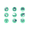 set shopping icons with card payment delivery vector image vector image