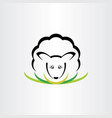 sheep logo icon symbol sign vector image