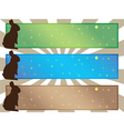 Simple easter banners vector image