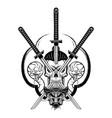 skull samurai 0006 vector image