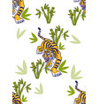 tiger set pattern vector image vector image