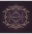 Vintage frame template design with text on purple vector image vector image