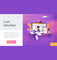 web design development landing page template vector image