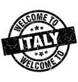 welcome to italy black stamp vector image vector image
