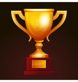 Winner golden cup vector image vector image