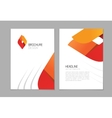 Brochure flyer design A4 booklet layout vector image