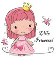 cute fairy-tale princess on a white background vector image