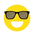 smiley face with sunglasses vector image