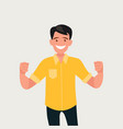 a happy man who has received good news vector image