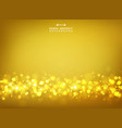 abstract of golden glitters bokeh on gold vector image vector image