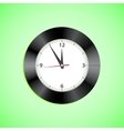 Alarm clock on green background vector image vector image