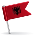Albanian pin icon flag vector image vector image