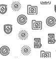 approved seamless pattern vector image vector image