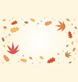 autumn leaves falling with copy space vector image vector image