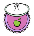 baby bib icon cartoon vector image vector image