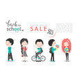 back to school sale background with vector image vector image