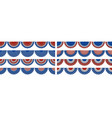 background with bunting decoration vector image vector image