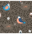 birds and twigs background vector image vector image