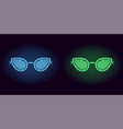 blue and green neon club glasses vector image vector image