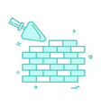 bricks day labor wall icon design vector image