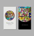 business card design ethnic mandala vector image vector image