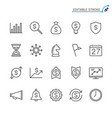 business line icons editable stroke vector image vector image