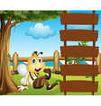 Cartoon bee ladder vector | Price: 1 Credit (USD $1)