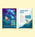 cartoon template astronomy brochure vector image vector image