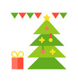 christmas ornament christmas related flat style vector image vector image