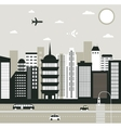 City in black and white vector image vector image
