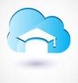 cloud education vector image vector image