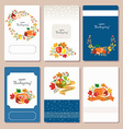 collection of labels and elements for Thanksgiving vector image vector image