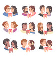 couples male and female in love holding heart vector image vector image