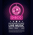 disco electro music invitation poster vector image