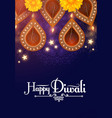 diwali festival design template holiday poster vector image