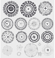 Doodle artistic pattern wreathframeburstBlack vector image vector image