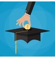 education savings and investmet concept vector image vector image