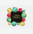 elegant merry christmas background with balls vector image
