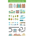 Elements of the modern city and nature vector image vector image