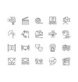 filming line icons signs set outline vector image vector image