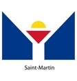 Flag of the country saint martin vector image