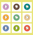 flat icons halloween set of ghost concept on vector image vector image