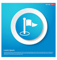 flat pictogram icon abstract blue web sticker vector image vector image