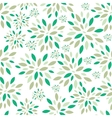 Flower Leaves Seamless Pattern Background vector image vector image
