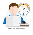 Freelance Business Icon vector image