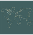 gold world map design vector image
