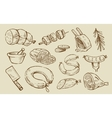 hand drawn Meat vector image vector image